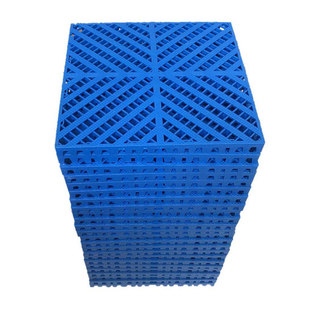 Smabee 24-Pack Modular Interlocking garage floor tile