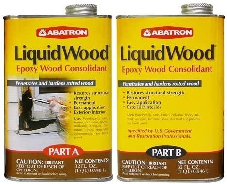 Epoxy garage floor paint - Abatron LiquidWood Epoxy Wood Hardener and Consolidant Resin