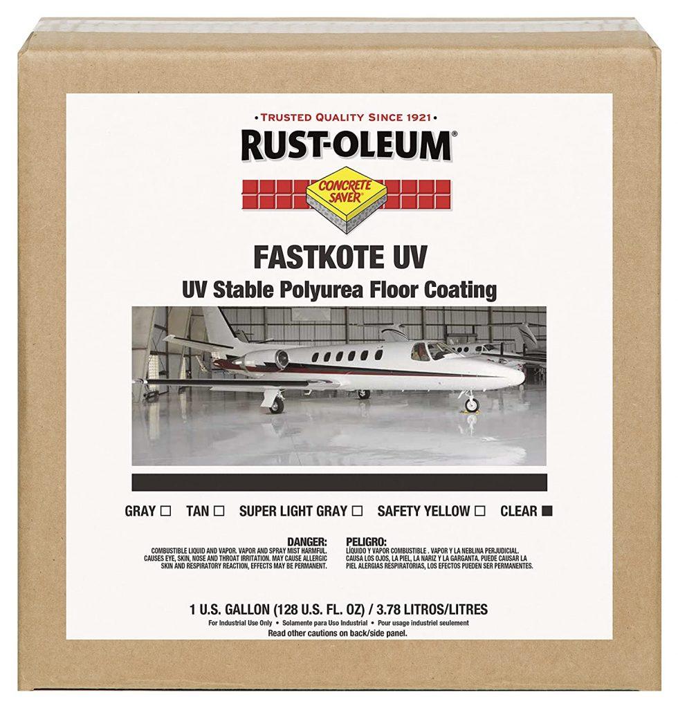 Epoxy garage floor paint - Rust-Oleum 277499 FastKote UV Stable Polyurea Floor Coating