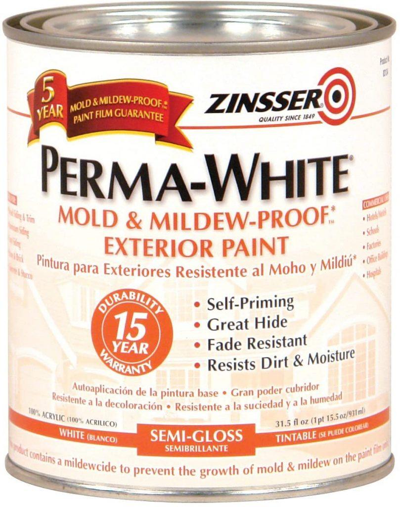 Rust-Oleum Zinsser PermaWhite Exterior Semi-Gloss